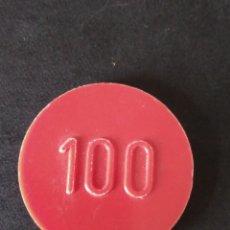 Monedas locales: FICHA CASINO SANTANDER CLUB DE REGATAS 100 PESETAS. Lote 171746552