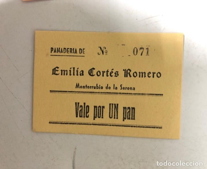 VALE DE PAN DE PANADERIA EMILIA CORTES ROMERO. MONTERRUBUIO DE LA SERENA, BADAJOZ. VALE POR 1 PAN (Numismática - España Modernas y Contemporáneas - Locales y Fichas Dinerarias y Comerciales)