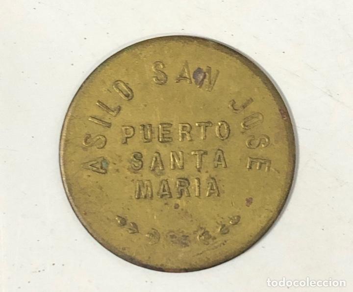 PUERTO SANTA MARIA. FONDA POPULAR. 10 CENTIMOS. ASILO SAN JOSE. (Numismática - España Modernas y Contemporáneas - Locales y Fichas Dinerarias y Comerciales)