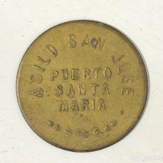 Monedas locales: PUERTO SANTA MARIA. FONDA POPULAR. 10 CENTIMOS. ASILO SAN JOSE. . Lote 175652055