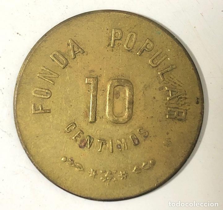 Monedas locales: PUERTO SANTA MARIA. FONDA POPULAR. 10 CENTIMOS. ASILO SAN JOSE. - Foto 2 - 175652055