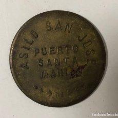 Monedas locales: PUERTO SANTA MARIA. FONDA POPULAR. 10 CENTIMOS. ASILO SAN JOSE. . Lote 175652099