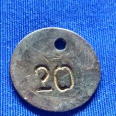 Monedas locales: FICHA O MONEDA NECESIDAD A CATALOGAR. Lote 176282722