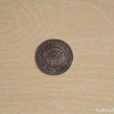 Monedas locales: FICHA MONEDA BARGO S.A. MERCADO CENTRAL BORNE 19, 65 Y 154. BARCELONA. BUEN ESTADO. DORADA. 3,5 CM.. Lote 177284838