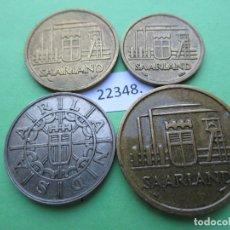 Monedas locales: ALEMANIA SERIE SARRE (SAARLAND) 10, 20, 50 Y 100 FRANKEN 1954 1955, OCUPACION FRANCESA, FRANCOS. Lote 178250923