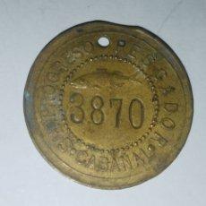 Monedas locales: ANTIGUA MONEDA FICHA DE 1 PESETAS SOCIEDAD EL PROGRESO PESCADOR DE EL CABAÑAL DE VALENCIA 1902-1924. Lote 178556741