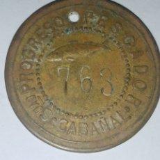 Monedas locales: ANTIGUA MONEDA FICHA DE 1 PESETAS SOCIEDAD EL PROGRESO PESCADOR DE EL CABAÑAL DE VALENCIA 1902-1924. Lote 178556955