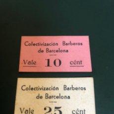 Monedas locales: COLECTIVIZACION BARBEROS DE BARCELONA. Lote 179027058