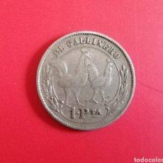 Monedas locales: BARCELONA? EL GALLINERO. 1 PESETA. RARA. Lote 180180497