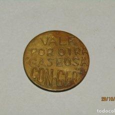 Monedas locales: ANTIGUA MONEDA EN LATÓN * VALE POR OTRA GASEOSA* DE CON-GER EN VALENCIA - AÑO 1940-50S.. Lote 211429420