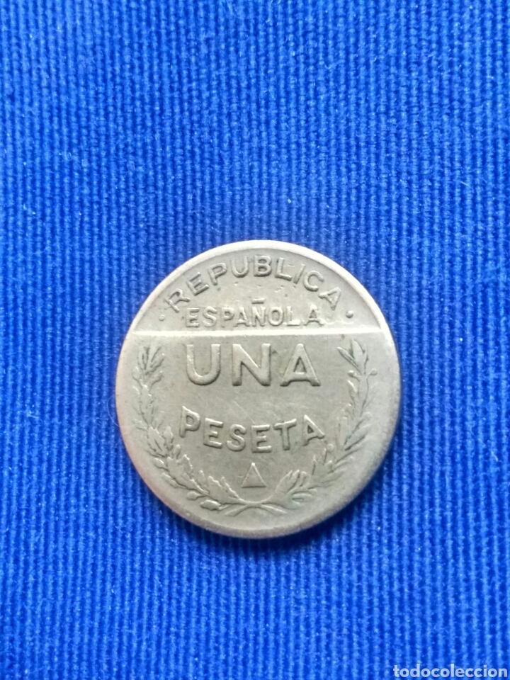 Monedas locales: UNA PESETA CONSEJO SANTANDER,PALENCIA Y BURGOS - Foto 2 - 181887068