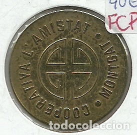 Monedas locales: (FCP-92)FICHA 10 CTS.COOPERATIVA L´AMISTAT(MONTGAT) - Foto 2 - 182604596