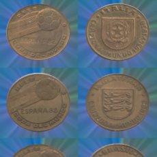Monedas locales: LOTE DE FICHAS ESPAÑA 82, FÚTBOL MUNDIAL ALEMANIA, ARGENTINA, BRASIL, ITALIA REGALO XXX. Lote 183189652