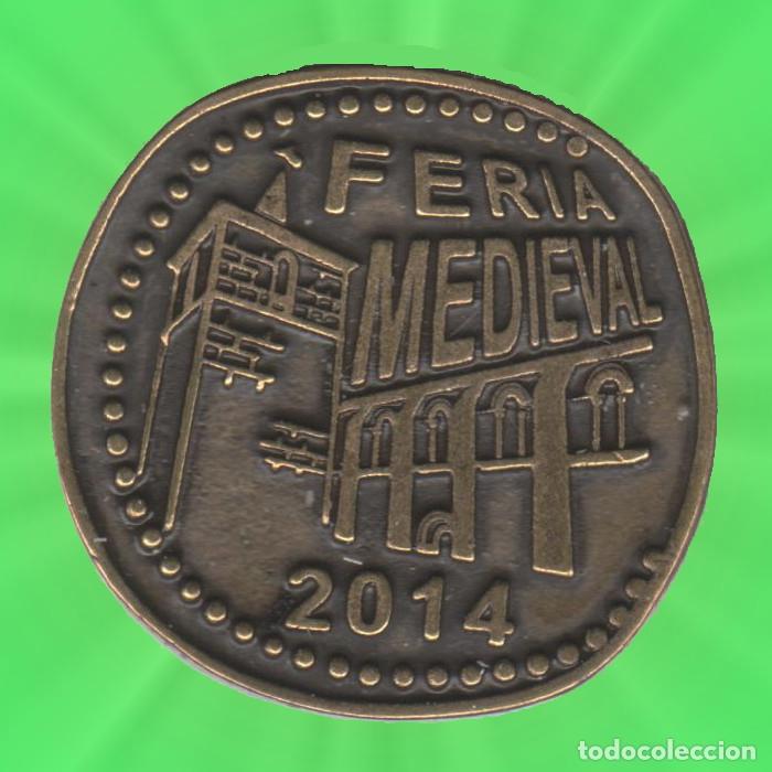 8 MARAVEDIES SOBRADO DE TRIVES FEIRA MEDIEVAL 2014 GALICIA OURENSE MONEDA FICHA XXX (Numismática - España Modernas y Contemporáneas - Locales y Fichas Dinerarias y Comerciales)
