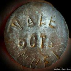 Monedas locales: GUERRA CIVIL. 5 CÉNTIMOS LATÓN AYT° DE MUEL (ZARAGOZA). RARÍSIMA Y MUY ESCASA.. Lote 183344011