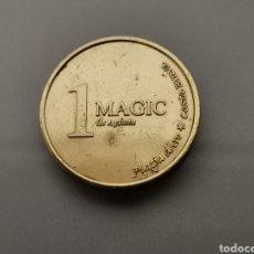 Monedas locales: ANTIGUA FICHA O TOKEN 1 DEL DESAPARECIDO MÀGIC PARC PLATJA D'ARO GIRONA. Lote 177061354