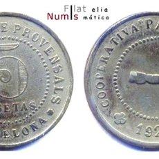 Monedas locales: ESPAÑA - FICHAS DE COOPERATIVAS DE CATALUÑA. Lote 183497660