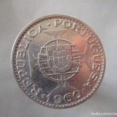 Monedas locales: MOZAMBIQUE . 20 ESCUDOS DE PLATA ANTIGUOS . AÑO 1960. Lote 194935746
