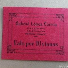 Monedas locales: INIESTA. CUENCA. VALE POR 10 VIENAS.. Lote 201715166