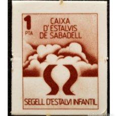 Monedas locales: VALE 1 PESETA SELLO DE AHORRO INFANTIL CAIXA D`ESTALVIS DE SABADELL. Lote 58731260