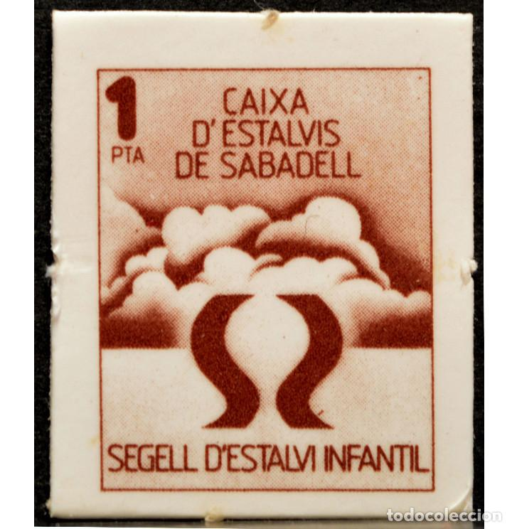 Monedas locales: VALE 1 PESETA SELLO DE AHORRO INFANTIL CAIXA D`ESTALVIS DE SABADELL - Foto 2 - 58731260