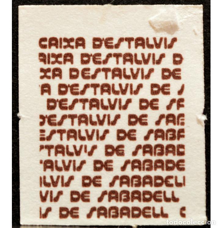 Monedas locales: VALE 1 PESETA SELLO DE AHORRO INFANTIL CAIXA D`ESTALVIS DE SABADELL - Foto 3 - 58731260