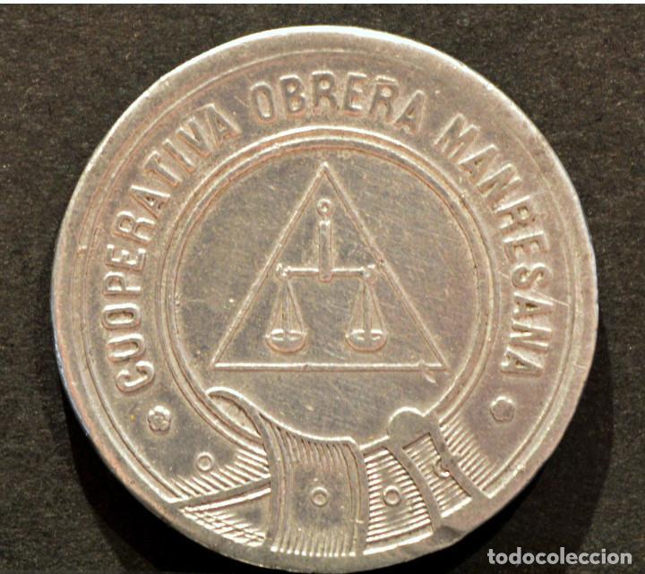 5 CENTIMOS COOPERATIVA OBRERA MARESANA MANRESA (Numismática - España Modernas y Contemporáneas - Locales y Fichas Dinerarias y Comerciales)