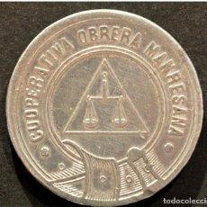 Monedas locales: 5 CENTIMOS COOPERATIVA OBRERA MARESANA MANRESA. Lote 58830666