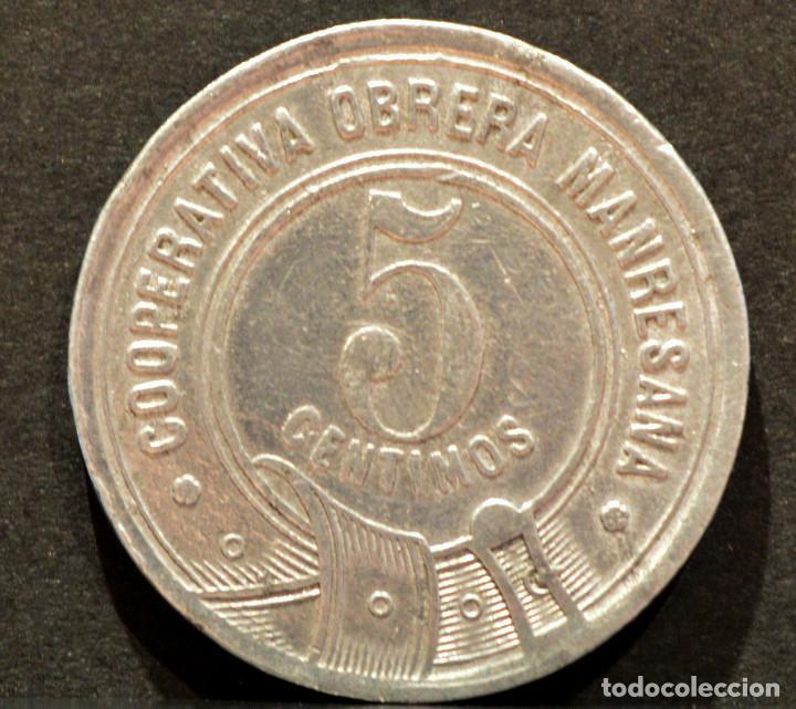 Monedas locales: 5 CENTIMOS COOPERATIVA OBRERA MARESANA MANRESA - Foto 3 - 58830666