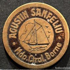 Monedas locales: SAN FELIU FICHA MONEDA MERCADO CENTRAL DEL BORNE BARCLEONA. Lote 62226740