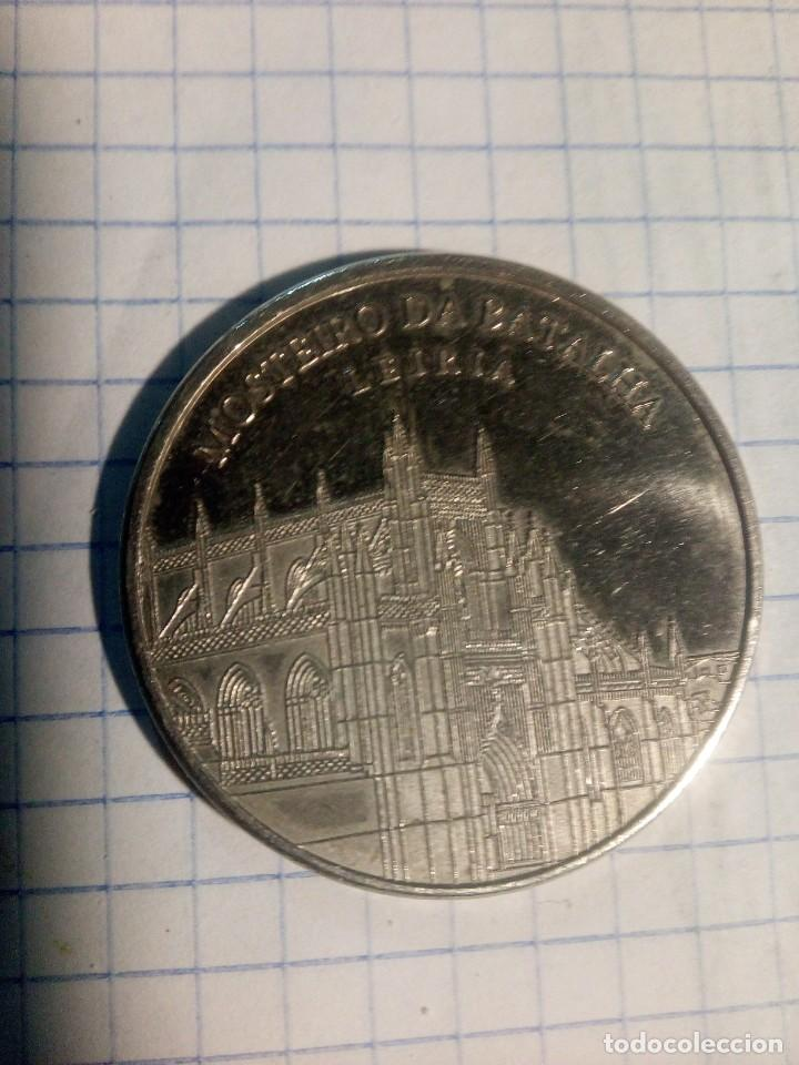 Monedas locales: Moneda Portuguese Heritage. Mosterio da Batalla. Leiria. Coín collectors . Token ficha - Foto 2 - 185177572