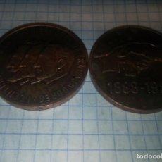 Monedas locales: 2 MONEDAS CONMEMORATIVAS UGT. 1888-1988. Lote 185210406