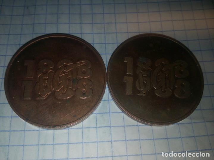 Monedas locales: 2 monedas conmemorativas UGT. 1888-1988 - Foto 3 - 185210406