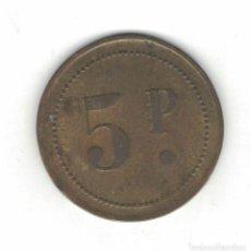 Monedas locales: FICHA DE 5 PESETAS. F049. Lote 185673953