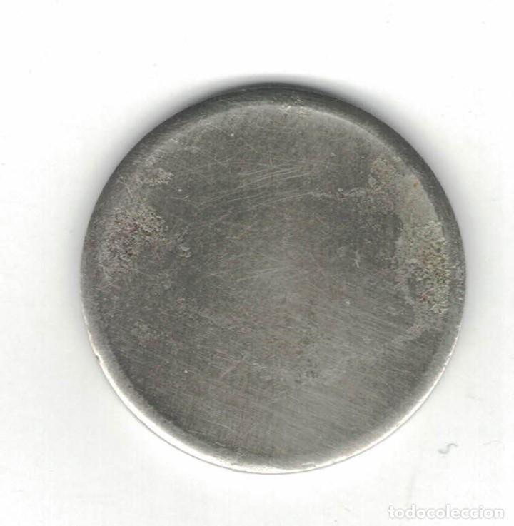 Monedas locales: Dos Fichas. 25 cent. Díam. 2,4 cm. Plateada y octogonal de 5 Ptas. F054 y F046 - Foto 3 - 185978546