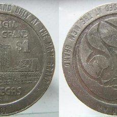 Monedas locales: FICHA DE 1 DOLAR CASINO LAS VEGAS 1981. Lote 186252268