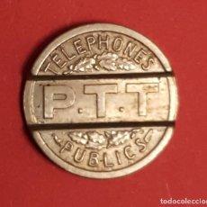 Monedas locales: FICHA TELEFÓNICA (FRANCIA; 1937) ¡COLECCIONISTA! ORIGINAL. Lote 186346358