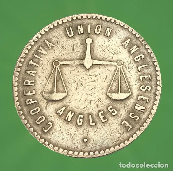 Monedas locales: 50 pesetas Anglesense Cooperativa Unió, Guerra Civil xxx - Foto 2 - 186176027