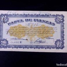 Monedas locales: PAPEL DE FIANZAS 5, 10 Y 50 PESETAS. LOTE DE 8 UDS. INSTITUTO NACIONAL DE LA VIVIENDA 1940. Lote 187190753