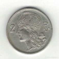 Monedas locales: FICHA DE 2 PESETAS. ANVERSO CARA FEMENINA REVERSO VALOR, F060. Lote 187191957