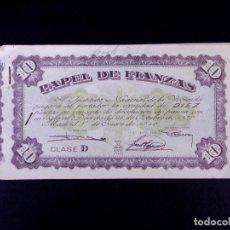 Monedas locales: PAPEL DE FIANZAS DE 10 Y 50 PESETAS. LOTE DE 7 UDS. INSTITUTO NACIONAL DE LA VIVIENDA 1940. Lote 187192241