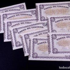 Monedas locales: PAPEL DE FIANZAS DE 1000 PESETAS. LOTE DE 9 UDS. INSTITUTO NACIONAL DE LA VIVIENDA 1940. Lote 187193101