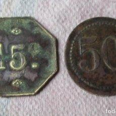 Monedas locales: 15 C Y. 50 C.. Lote 187480698