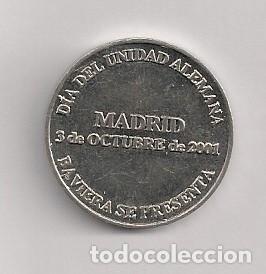 Monedas locales: FICHA MONEDA DÍA DE LA UNIDAD ALEMANA - Foto 2 - 187617377