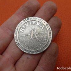Monedas locales: * ANTIGUA FICHA DEL RIVIERA DE LAS VEGAS, CASINO, ORIGINAL. ZX. Lote 189299820