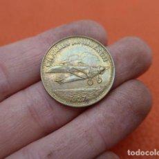 Monedas locales: * ANTIGUA MONEDA O FICHA DE SHELL, AVION DE 1927, CHARLES LINDBERCH, ORIGINAL. ZX. Lote 189301148