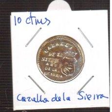 Moedas locais: 10 CENTIMOS DE CAZALLLA DE LA SIERRA SEVILLA AÑO DE LA VICTORIA MUY RARA. Lote 190163231