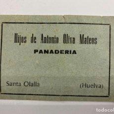 Monedas locales: VALE DE PAN DE PANADERIA HIJOS ANTONIO OLIVA MATEOS. SANTA OLALLA. HUELVA. VALE POR 2 KG PAN. Lote 190210742