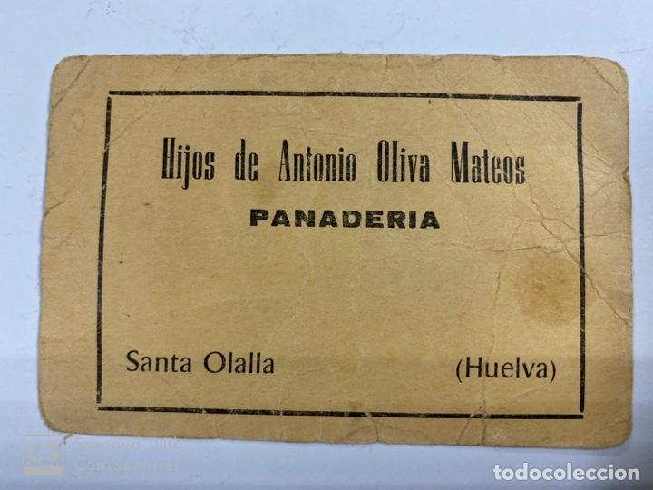 VALE DE PAN DE PANADERIA HIJOS ANTONIO OLIVA MATEOS. SANTA OLALLA. HUELVA. VALE POR 4 KG DE PAN (Numismática - España Modernas y Contemporáneas - Locales y Fichas Dinerarias y Comerciales)