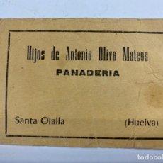 Monedas locales: VALE DE PAN DE PANADERIA HIJOS ANTONIO OLIVA MATEOS. SANTA OLALLA. HUELVA. VALE POR 4 KG DE PAN. Lote 190211088